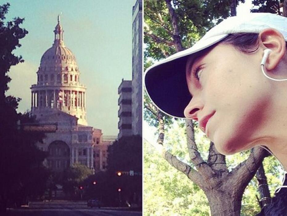 """""""Formidable el camino por el Río Colorado en #Austin. El paisaje, clima..."""