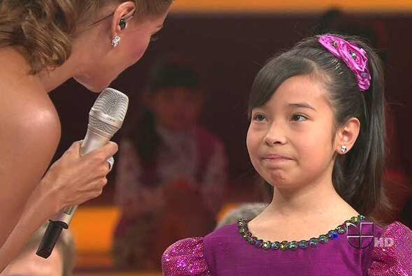 La pequeña de 11 años dedicó su canción a su...