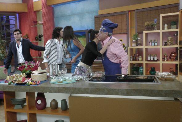 Aprovechando la visita de estos grandes personajes, el Chef Pepín...