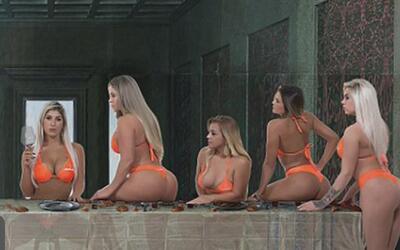 Escándalo por foto en la que participantes de un concurso de belleza rec...