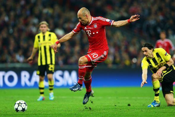 A dos minutos para el final una patred entre Ribery y Robben dejó a Robb...