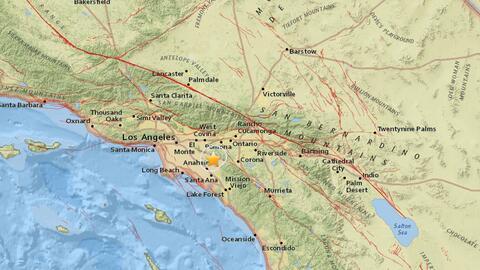 USGS registró un sismo de 3.0 en el condado de Orange la madrugad...