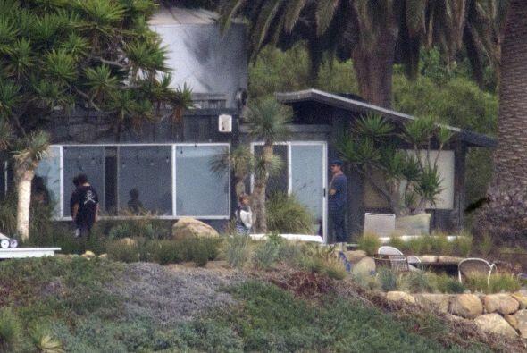 Las estrellas de cine se alojaron en la hermosa propiedad de Brad.
