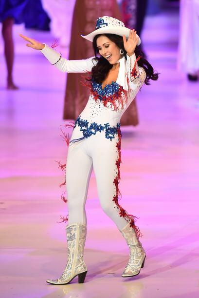 Miss Estados Unidos, Elizabeth Safrit. Originaria de North Carolina, que...