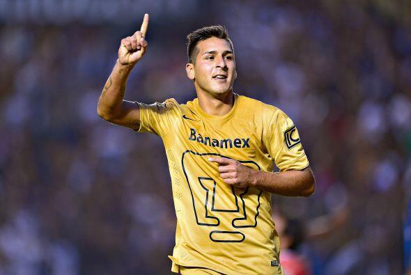 Ismael Sosa se ha adueñado de un lugar en la delantera de los Pumas, dej...
