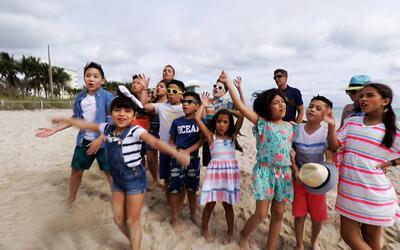 Así se divirtieron los peques en un día de playa