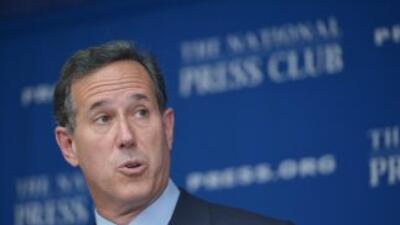 El aspirante a la nominación presidencial republicana Rick Santorum.