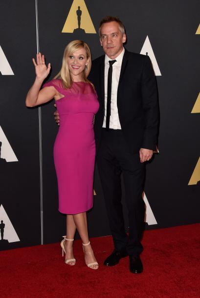 Reese Witherspoon y Jean-Marc Vallee posaron para las cámaras.