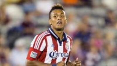 El delantero colombiano Juan Agudelo, de las Chivas USA, fue nombrado es...