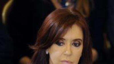 Cristina Kirchner, presidenta de Argentina.