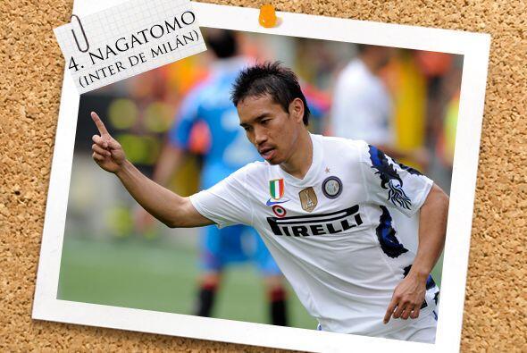 Otro defensa goleador es el japonés Yuto Nagatomo.