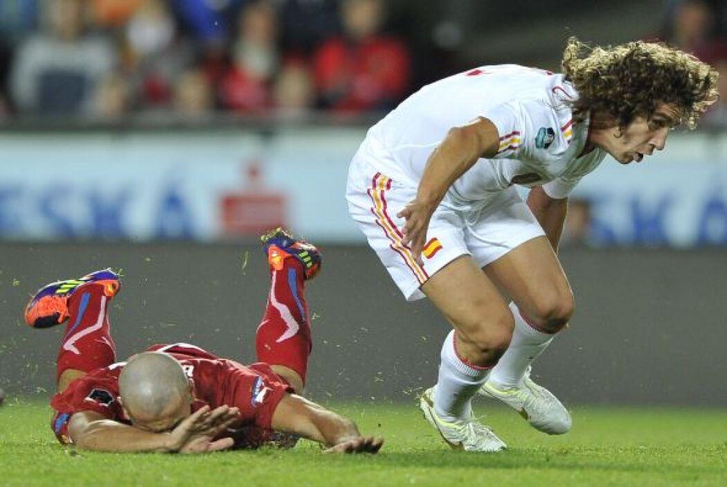 Puyol volvió de la lesión y España festeja..el que no quedó contento fue...