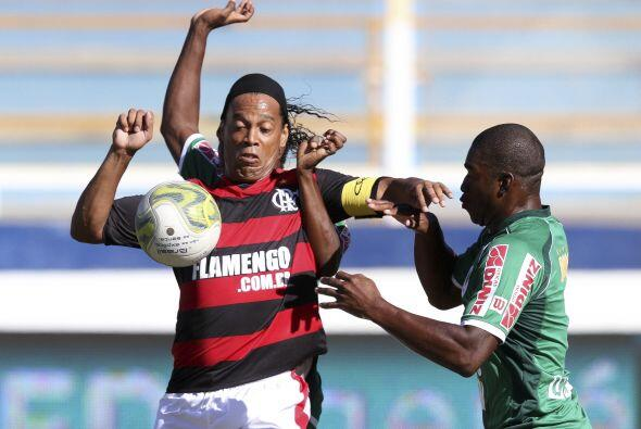 Flamengo enfrentó al Boavista por el en el campeonato del estado de Río...