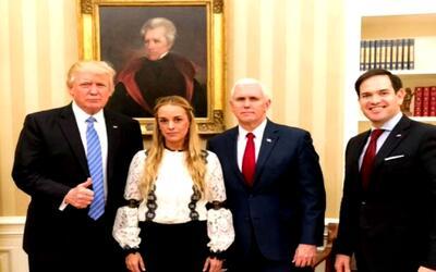 Trump recibió a la activista venezolana Lilian Tintori en la Casa Blanca...