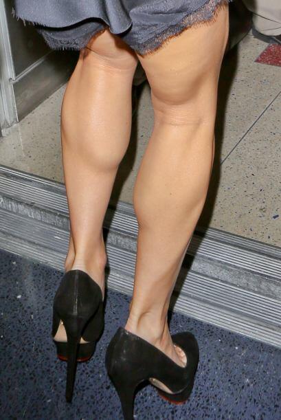En las imágenes se pueden ver unas piernas bastante delgadas, pero eso s...
