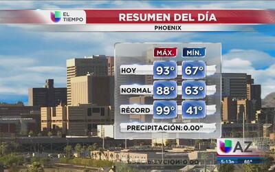Altas temperaturas y poca humedad en Phoenix