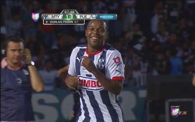 Monterrey vs Puebla: Dorlan Pabón abre el marcador con el primer gol de...