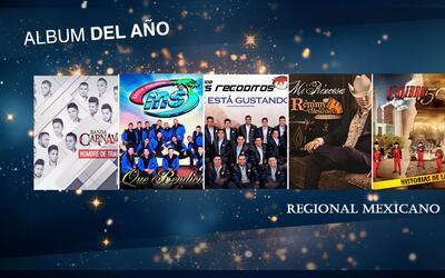 Ellos son los nominados en la categoría Álbum del Año Regional Mexicano