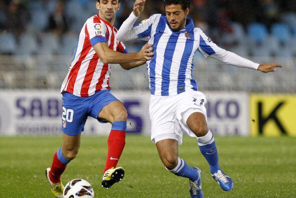 El mexicano Carlos Vela tuvo un buen juego aunque no pudo marcar.
