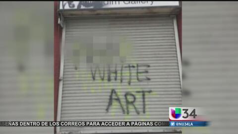 Investigan vandalismo en galerías de arte de Boyle Heights como crimen d...