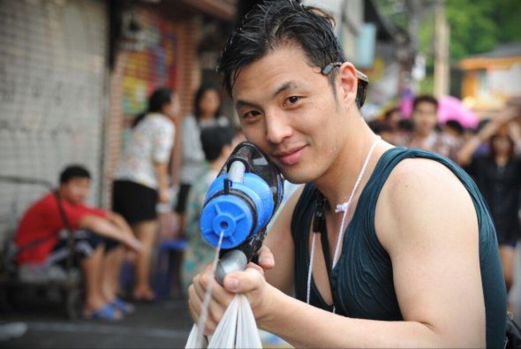 """El festival del agua, conocido como  """"Songkran""""."""