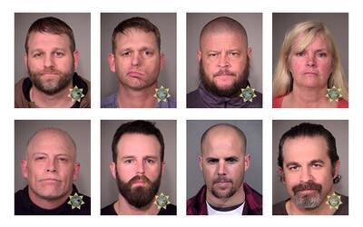 El jurado consideró que los milicianos atrincherados ejercieron s...