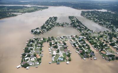 Residentes de la población de Horseshoe Bend en el Condado Parker...