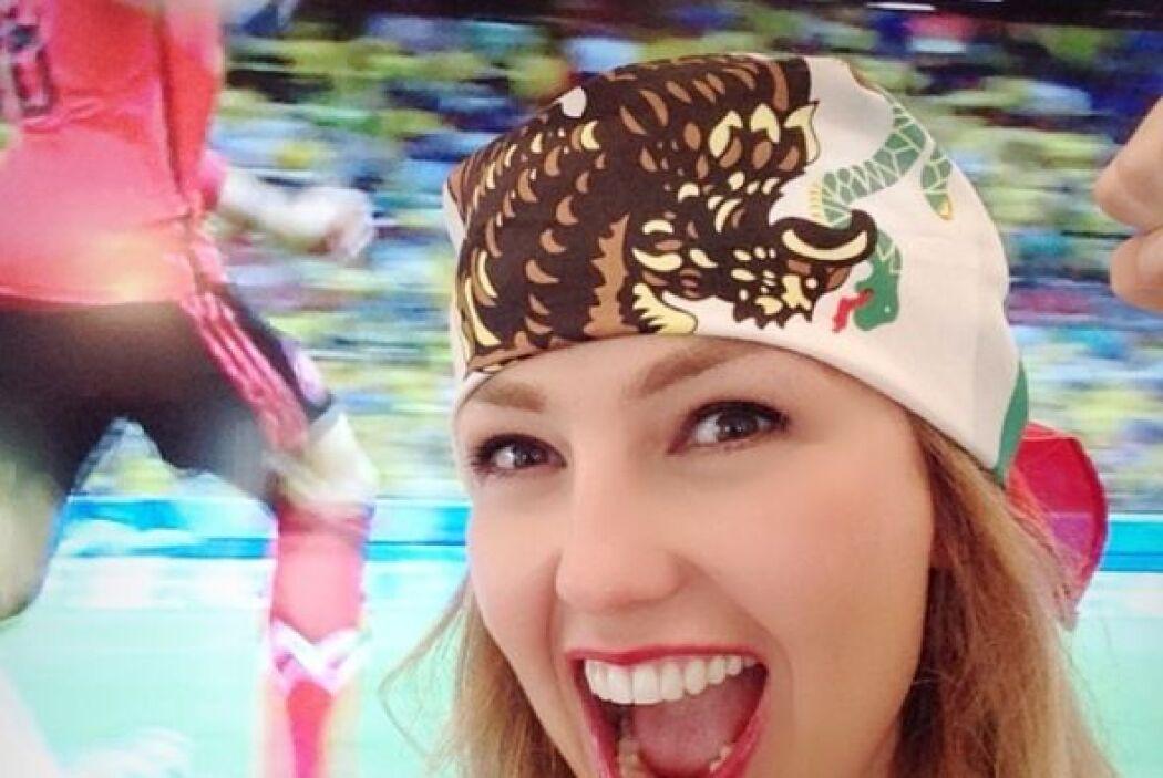 La actriz y cantante también ha disfrutado del Mundial y es toda una afi...