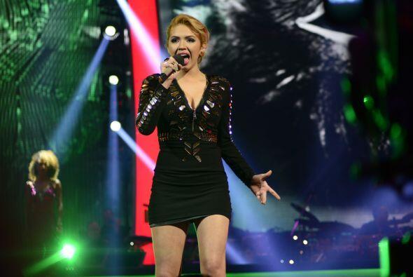 Paloma Carrasco en el escenario, durante la gala 3.