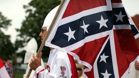 Una concentración del Ku Klux Klan