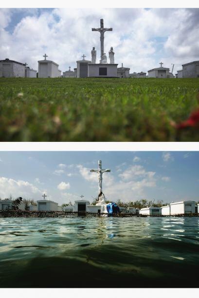 Cuando sucedió el desastre de Katrina, el cementerio fuera de la Iglesia...