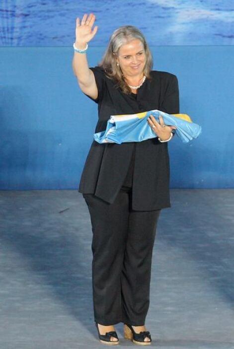 La teniente de alcalde de Barcelona, Maite Fandos, fue la encargada de r...