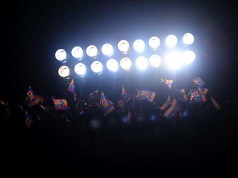 El Camp Nou recibía los cuartos de final de la Champions League,...