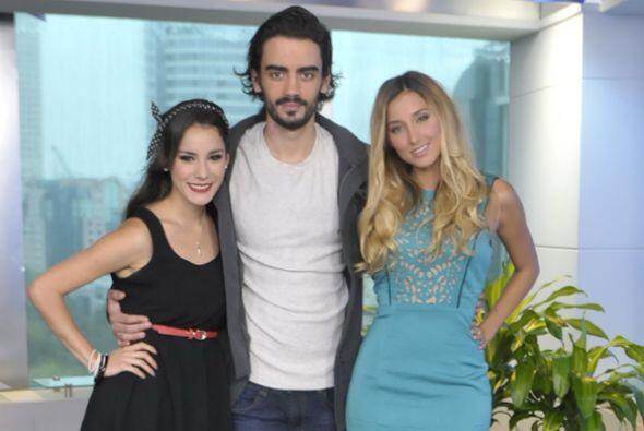 Okayri Giner, Diego Amonzurrutia y Sofía Sisniega de la serie 'Gossip Gi...