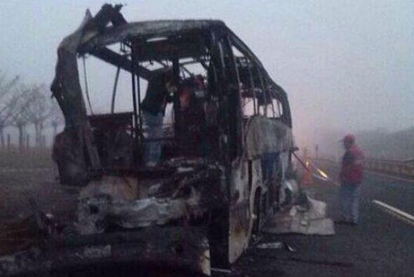 El autobús partió de la ciudad de Villahermosa, Tabasco. Imagen tomada d...