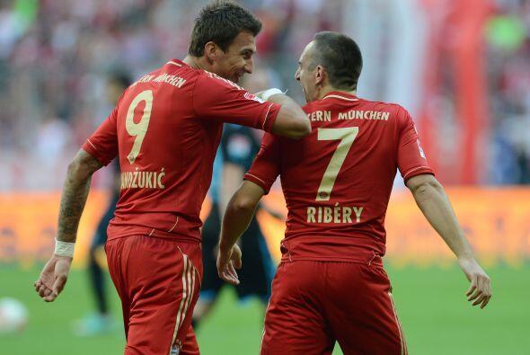 Ribéry fue el autor de los dos goles con los que los bávar...