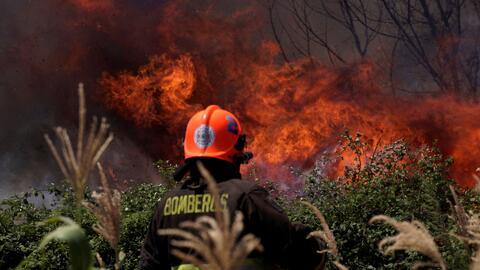 Imágenes impactantes del peor incendio forestal en la historia de Chile