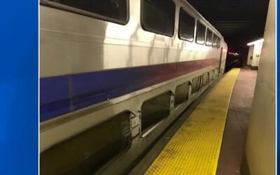'Nueva York en un Minuto': un tren se descarrila en la Penn Station con...