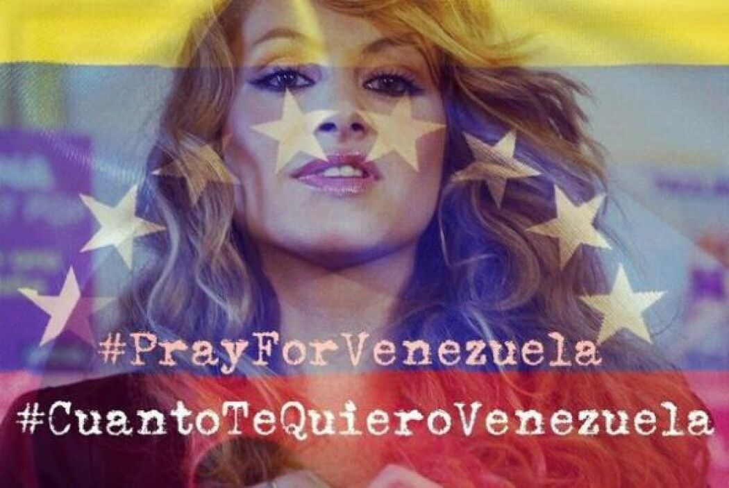 """La cantante mexicana Paulina Rubio escribió: """"Venezuela estoy con ustede..."""