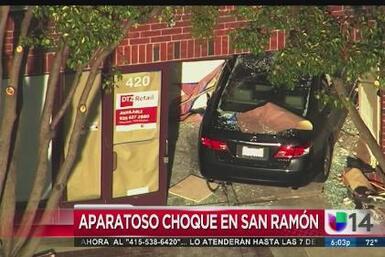 Aparatoso choque en San Ramón