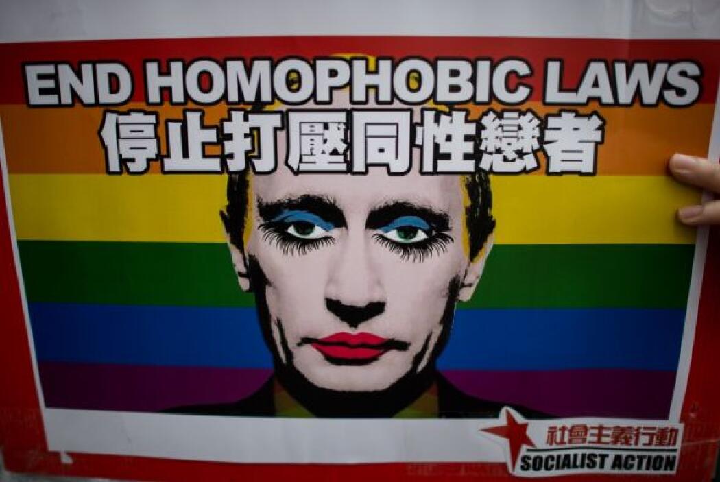 Las protestas en todo el mundo por la ley contra la propaganda homosexua...