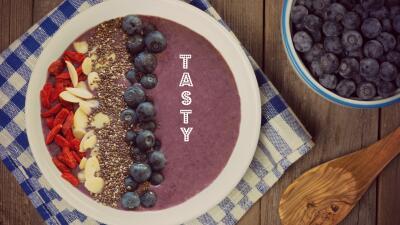 Smothie Bowl con blueberries