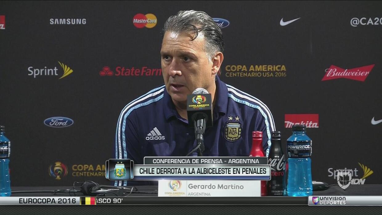 """Gerardo Martino: """"Lo único que hay que hacer es seguir adelante"""""""