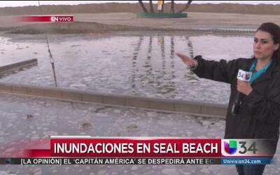 Inundaciones por fuerte oleaje en Seal Beach