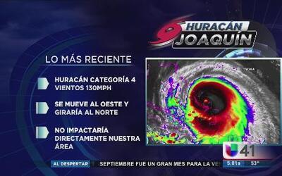 Joaquin no impactaría directamente en nuestra área