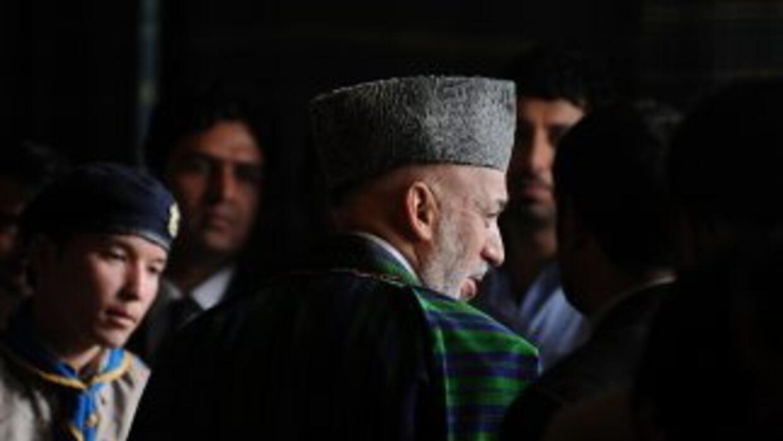 El presidente de Afganistán, Hamid Karzai.