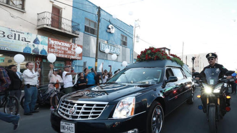 El cortejo fúnebre recorrió las calles de Ciudad Juárez.