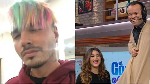 J Balvin tiene nuevo 'look' y Carlitos 'el productor' sorprendió a Clarissa
