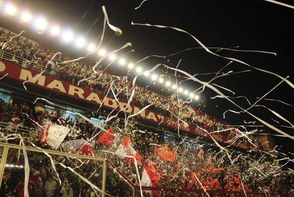 Imagen parcial del estadio Diego Maradona, unas 15 mil personas se diero...