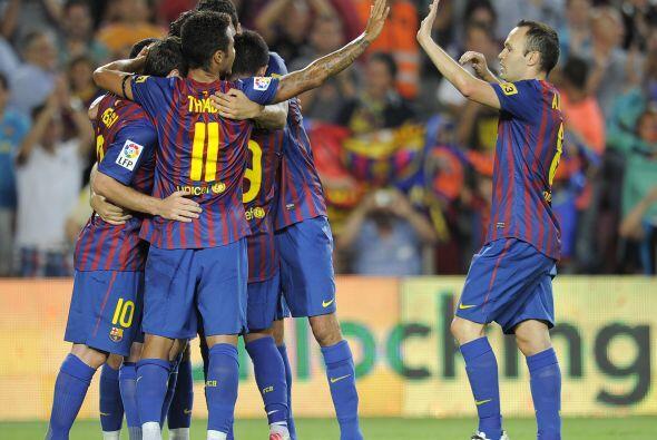 5-0 definitivo con el que los 'blaugranas' se impusieron al Villarreal.